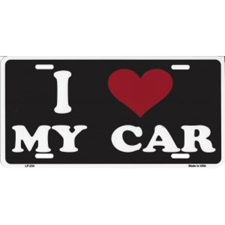 I Love My Car Metal License Plate - image 1 of 2