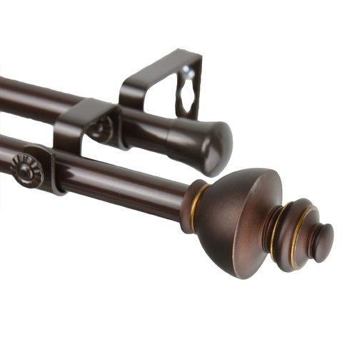 Rod Desyne Dynasty Double Curtain Rod and Hardware Set