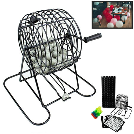 Deluxe Bingo Game Set Kit Cage Box Board Balls Cards Marker Family Fun Night New - Family Crafts Halloween Bingo