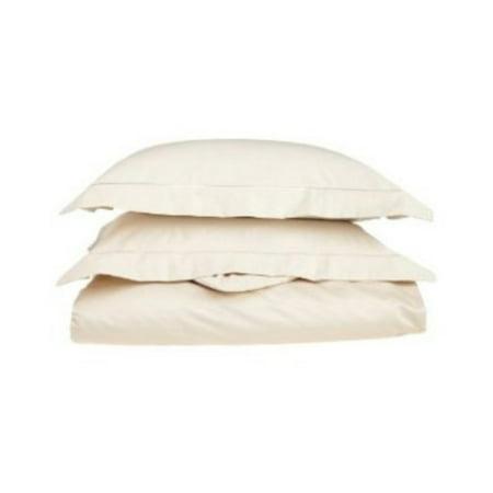Superior 400 Thread Count 100% Premium Combed Cotton Solid Duvet Cover Set ()