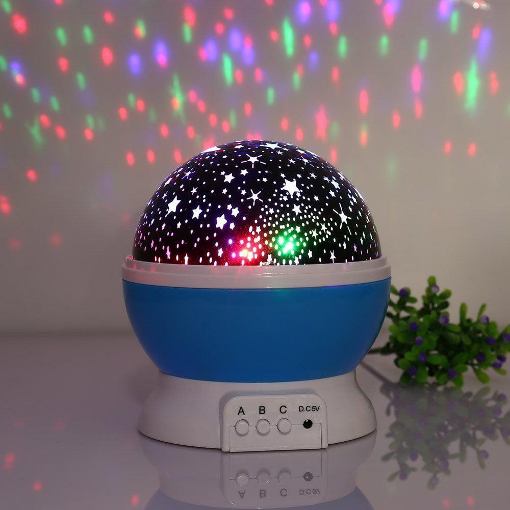 Baby Night Light, Lamp Uinstone Moon Star Projector 360 Degree Rotation Baby Bedroom Decoration Night Light... by Qedertek