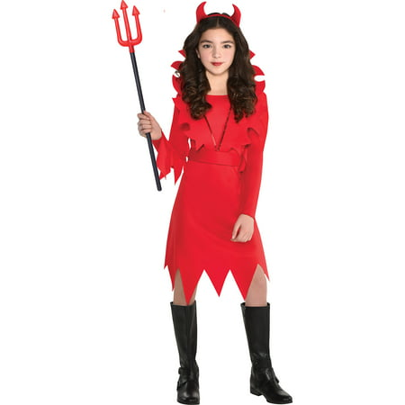 Suit Yourself Devious Devil Halloween Costume for Girls, with Accessories - Easy Do It Yourself Costumes