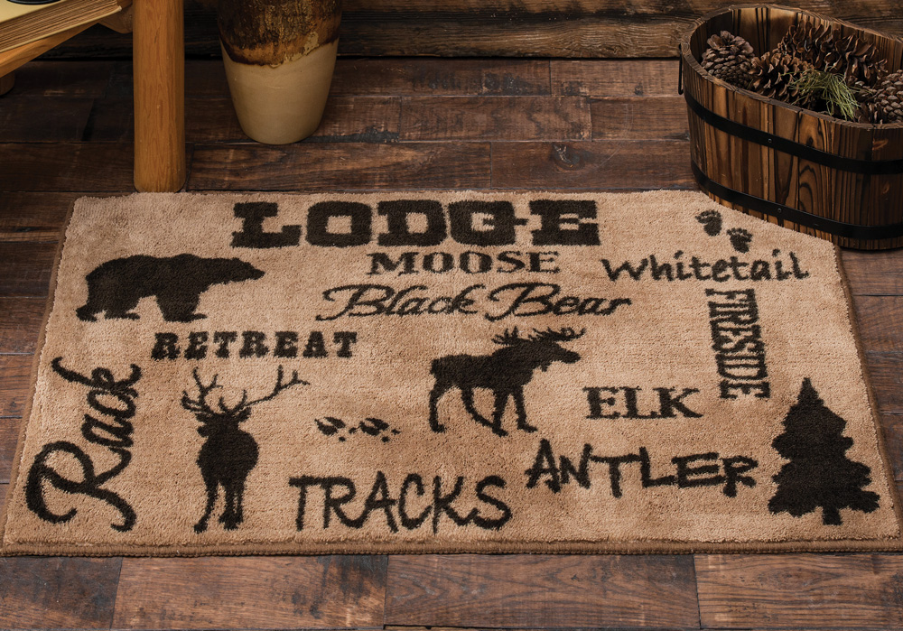 Cabin Life Lodge Kitchen Bath Rug Wilderness Decor Walmart Com