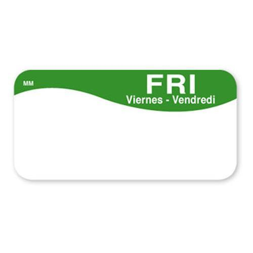 """Food Rotation Label - 140-004Friday Removable 2""""x1"""" Roll ..."""