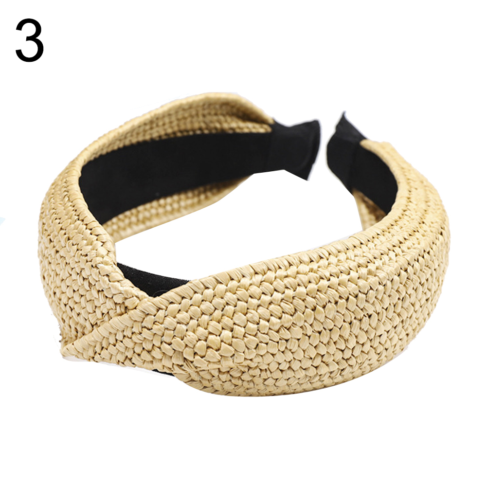 Details about  /Hair Hoop Accessories Knot Wide Headband Dot Band Cross Ladies Hairband