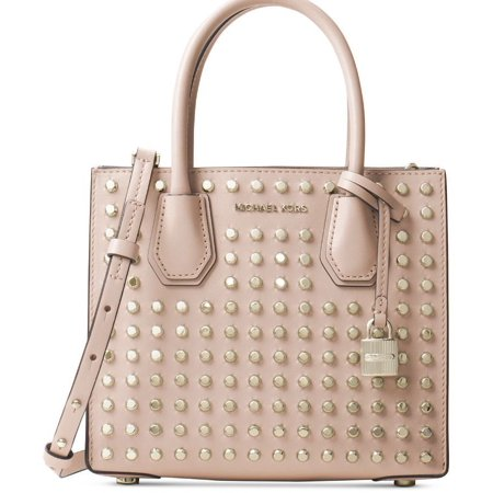 0946cd9eb767 Michael Kors - Michael Kors Studio Mercer Studded Medium Messenger Handbag  Purse - Ballet Pink Blush - Walmart.com