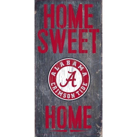 - Alabama Crimson Tide 6'' x 12'' Home Sweet Home Sign - No Size