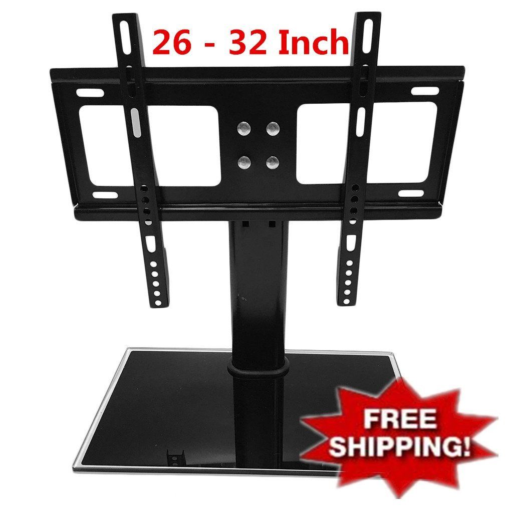 LESHP 26-32 inch Adjustable Movable Folding Universal TV Stand Pedestal Base Wall Display Rack Mount Flat Screen TVs