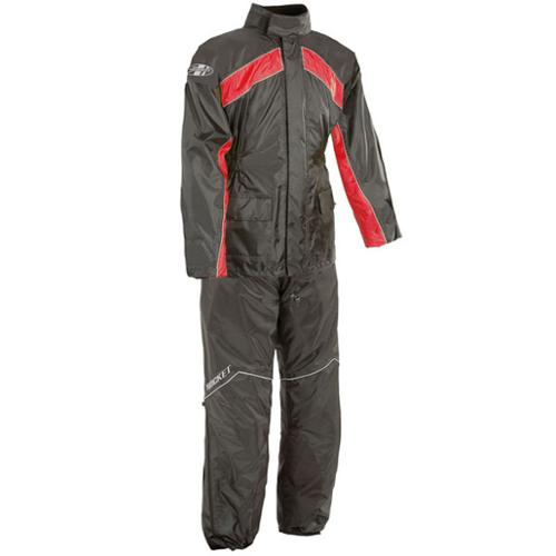 Joe Rocket RS-2 2-Piece Rainsuit Red/Black