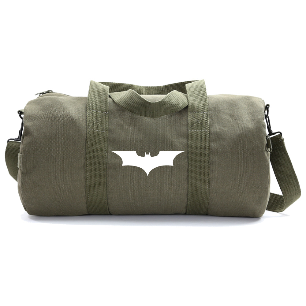 The Dark Knight Batman Logo Military Duffle Bag Gym Duffel Weekender Carry On by Grab A Smile