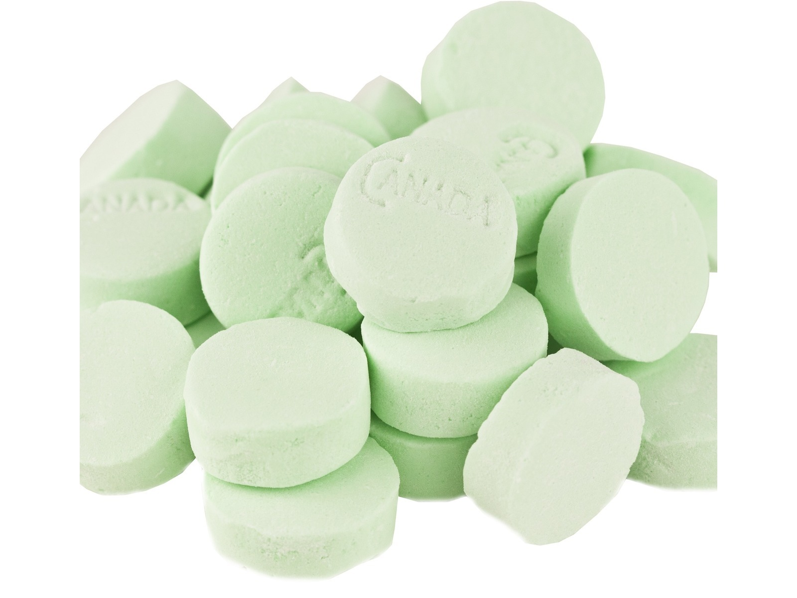Green Spearmint Lozengers Mints Canada Mints Lozenges 2 pounds by New England Confectionary Company (NECCO)