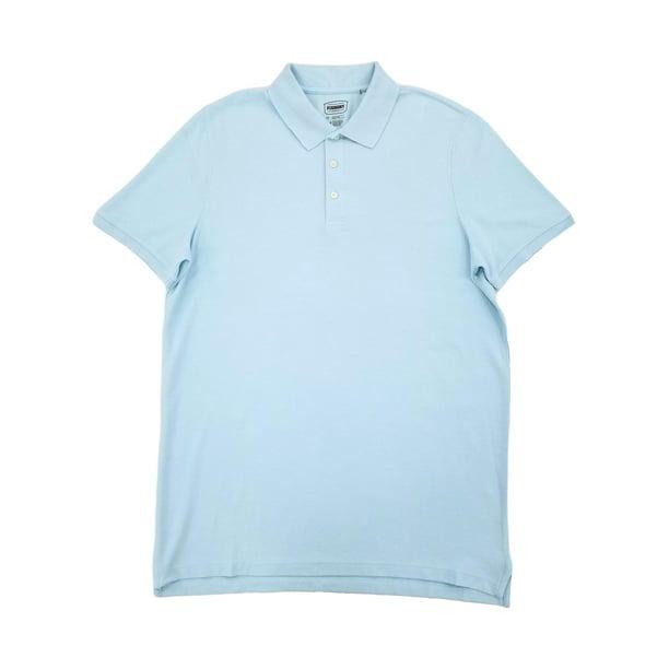 The Foundry Mens Big & Tall Light Blue Heather Short Sleeve Polo T-Shirt