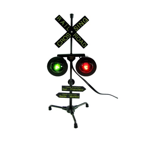 Crossing Lamp - Play Kreative Railroad Train/Track Crossing Sign with Flashing Lights