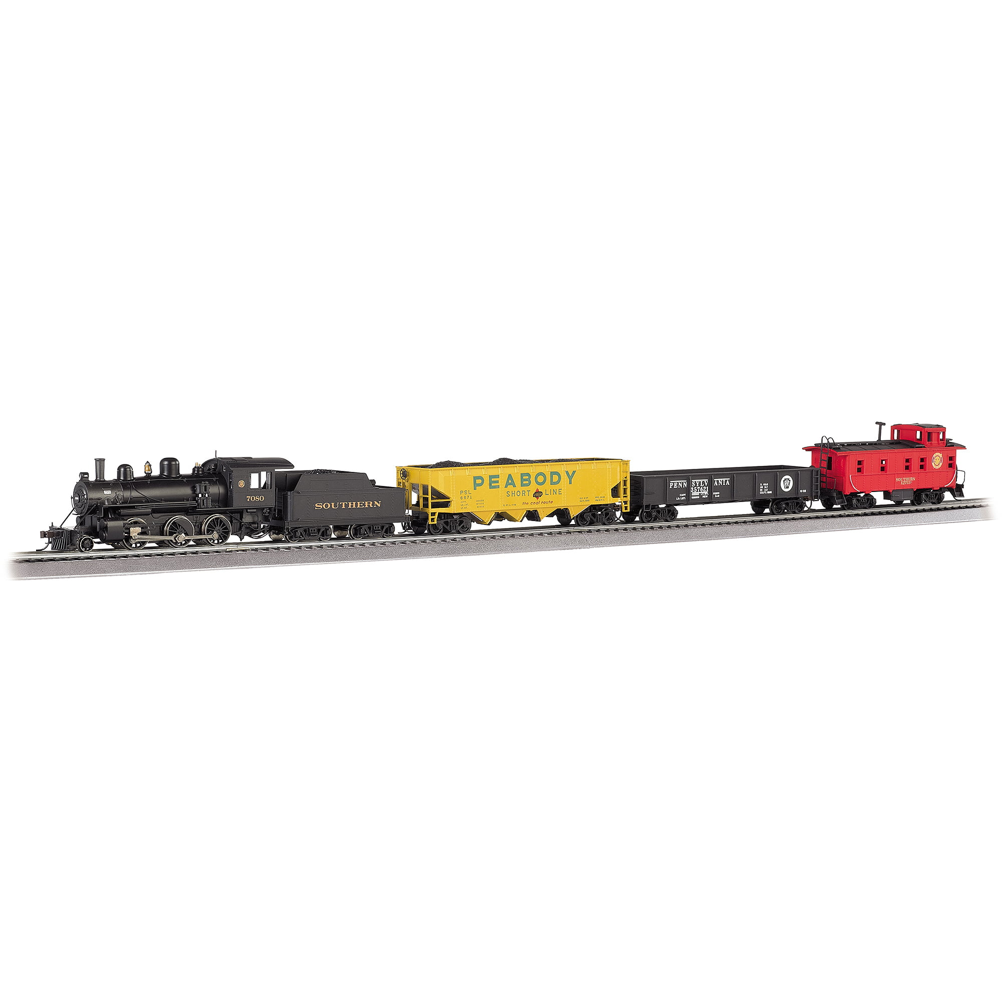 Bachmann Trains Echo Valley Express, HO Scale Ready-to-Run Electric Train Set with Sound Value Equipped... by Bachmann