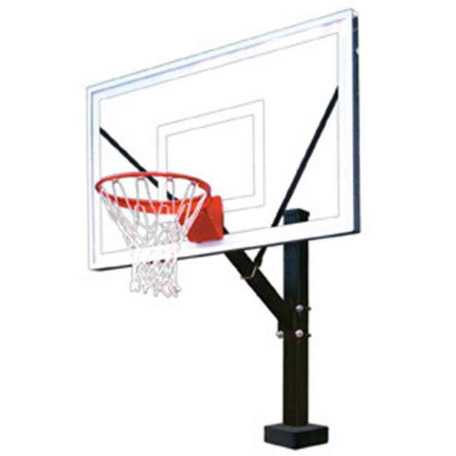 HydroSport Select Stainless Steel-Acrylic Fixed Poolside Basketball System, Purple