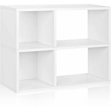 Way Basics 2-Shelf Chelsea Bookcase Storage Shelf, Natural White - Formaldehyde Free - Lifetime Guarantee