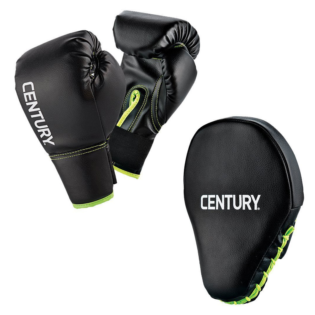 Century Martial Arts Youth Boxing Combo Training Set with Gloves and Punch Mitts