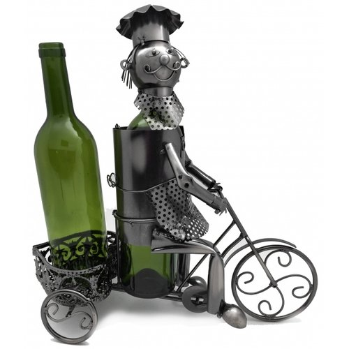 Wine Bodies Trycicle Rider 2 Bottle Tabletop Wine Rack