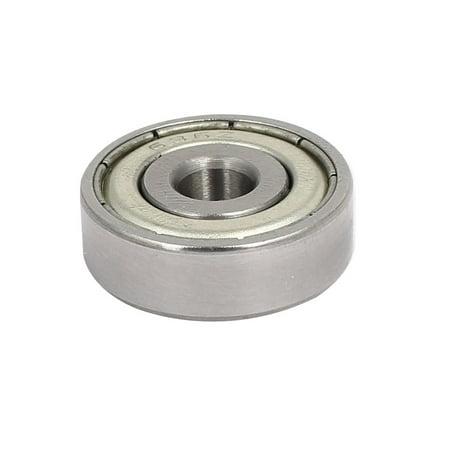 636ZZ Steel Shielded Deep Groove Ball Bearings Silver Tone 22mmx6mmx7mm 10pcs - image 2 de 4