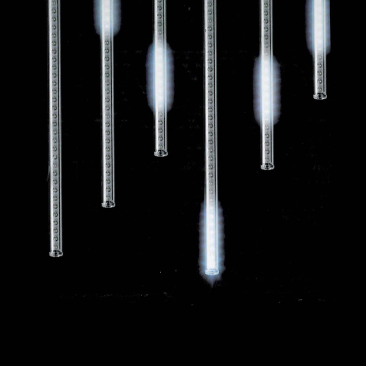 Snowfall set of 5 single sided 14 led outdoor christmas icicle snowfall set of 5 single sided 14 led outdoor christmas icicle light add on tubes walmart aloadofball