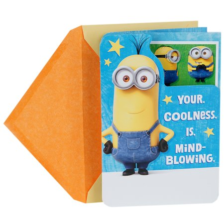 Hallmark Birthday Card for Kids (Minions, Stickers Included)](Minion Valentine Cards)