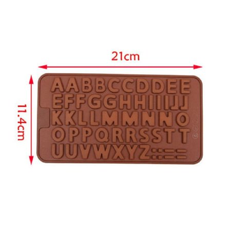 Roofei Silicone Mold DIY 26 English Alphabet Silicone Chocolate Molds Cake Mould Baking Tools Gummy Molds Silicone - Candy Mold - image 6 of 8