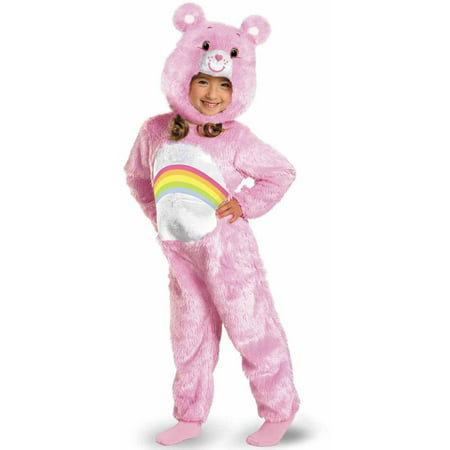 Care Bears Cheer Bear Deluxe Plush Girls' Toddler Halloween Costume - Toddler Care Bear Costume