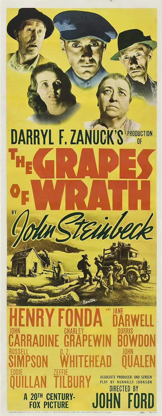 The Grapes of Wrath - movie POSTER (Insert Style A) (14