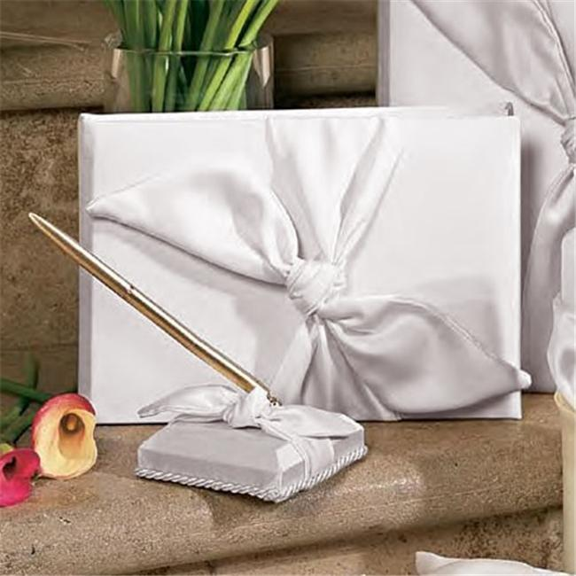 Beverly Clark 92A Love Knot Guest Book - White