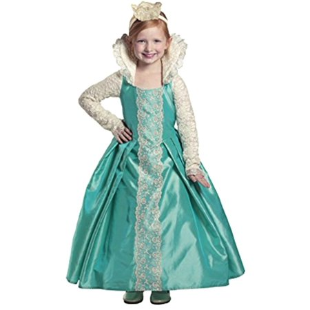 Little Girls Green White Lace Queen Evelyn Dress Up Halloween - Every White Girl On Halloween