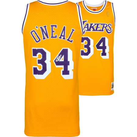 quality design 7f121 cbca7 Shaquille O'Neal Los Angeles Lakers Autographed Gold Mitchell & Ness  Hardwood Classics Swingman Jersey - Fanatics Authentic Certified