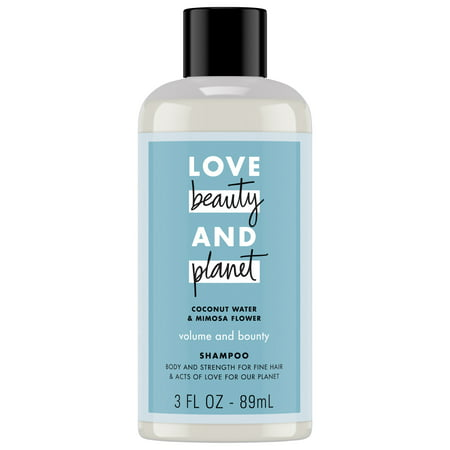 (2 Pack) Love Beauty and Planet Coconut Water and Mimosa Flower Volume and Bounty Shampoo 3 oz ()