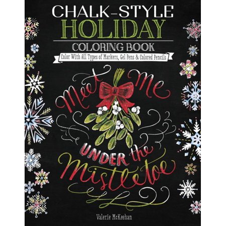 Chalk Style Holiday Coloring Book