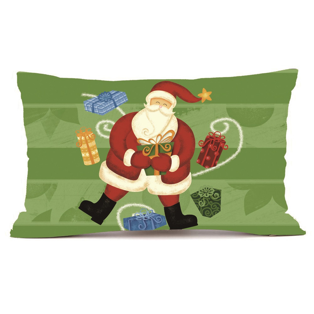 Hot Sale Merry Christmas Home Shops Sofa Bed Car Seat Rectangle Throw Pillow Case Decorative Cushion Cover Xmas Home Festival Decoration Supplies