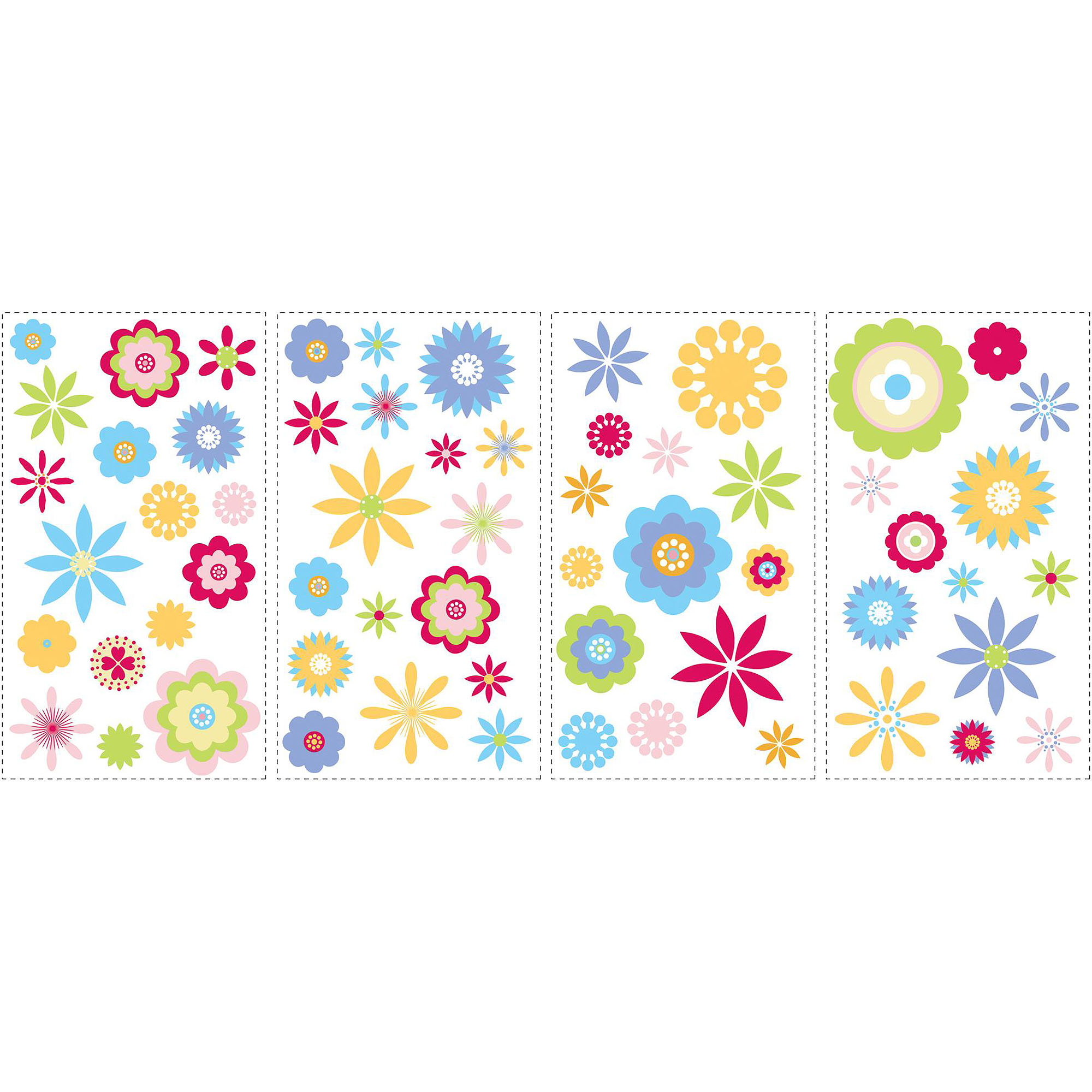 RoomMates Graphic Flowers Peel and Stick Wall Decals