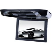 """Tview T1591DVFDBK 15"""" Flip Down Monitor with DVD Player USB/SD Transmitters"""