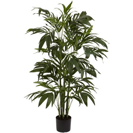 - Nearly Natural Bamboo Palm Silk Tree, 4 ft.