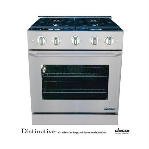 "Dacor DR30GISNG 30"" Slide-in Gas Range"