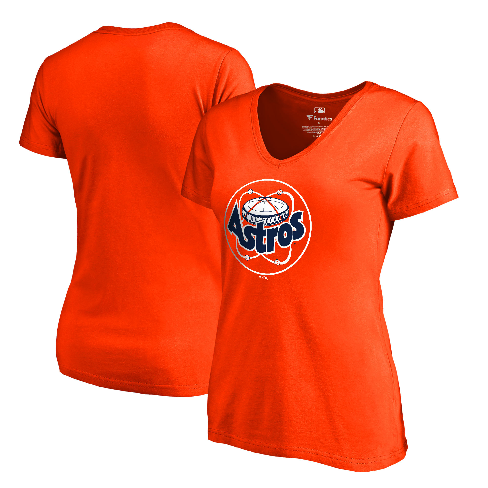 Houston Astros Fanatics Branded Women's Cooperstown Collection Huntington V-Neck T-Shirt - Orange