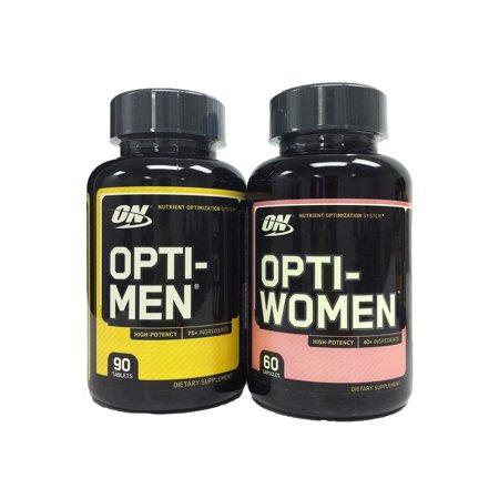 Optimum Nutrition Opti Men - Optimum Nutrition Opti-Men 90 Capsules + Opti-Women 60 Capsules Combo pack, Men's and Women's Multivitamin