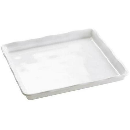 Cal Mil 3415-15 Melamine White Tray Rectangular - 13.875 x 12.875 -