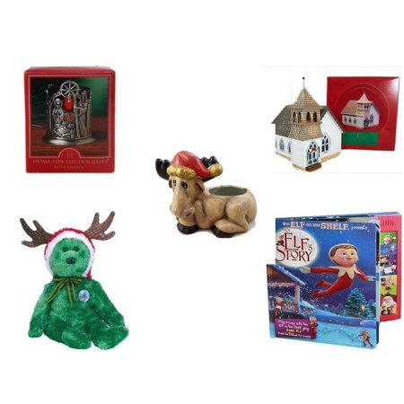 Church Planters - Christmas Fun Gift Bundle [5 Piece] - Home For The s Nativity Votive Holder - The Sarah Plain And Tall Collection The Country Church Hallmark 1994 - Creation House Co., LTD Sad  Moose Planter - Ty B