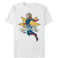 Marvel Men's Captain Marvel Vintage Star T-Shirt
