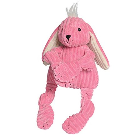 Hugglehounds Plush Corduroy Durable Squeaky Knottie Dog Toy