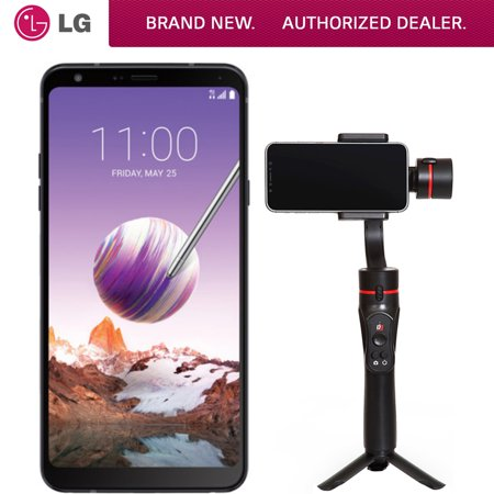 LG Stylo 4 32GB Smartphone, Unlocked (LMQ710ULM.AUSABK) with Bonus Deco Gear 3-Axis Handheld Cell Phone Gimbal