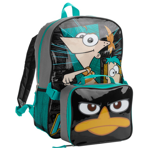 """Phineas & Ferb 16"""" Backpack with Lunch Kit"""