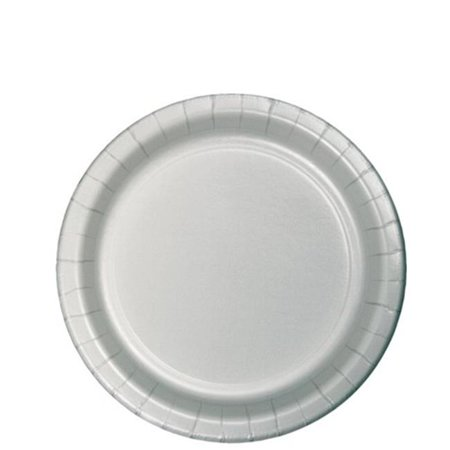- Hoffmaster Group 79106B 7 in. Lunch Plate, Silver - 24 per Case - Case of 10