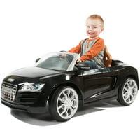 Rollplay Audi R8 Spyder 6 Volt Battery-Powered Ride-On Vehicle, Black