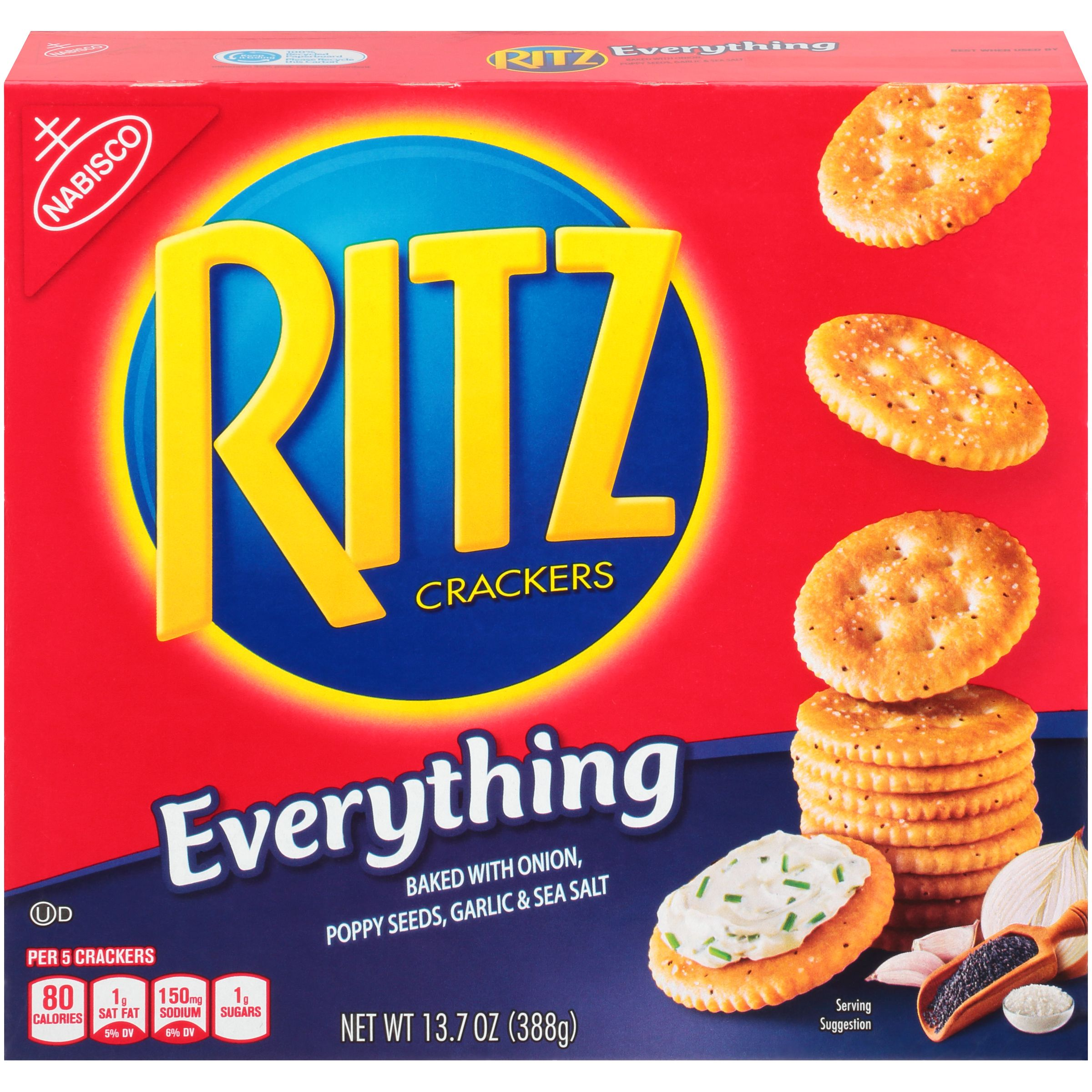 Nabisco Ritz Everything Crackers, 13.7 Oz.