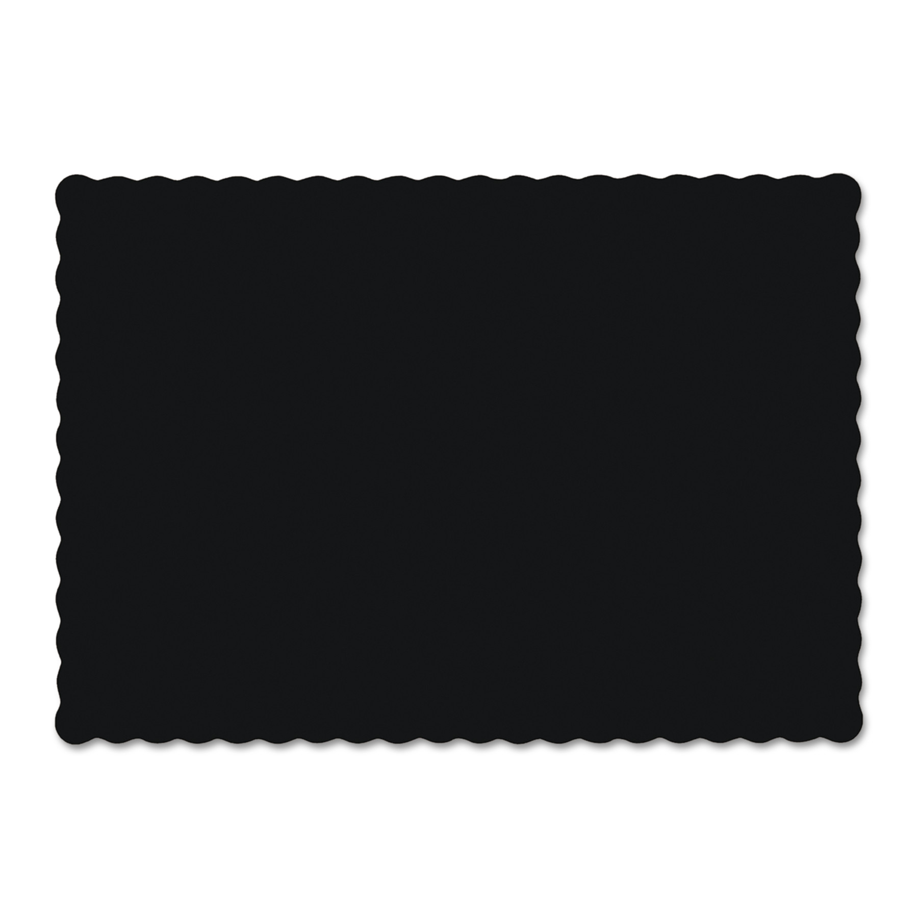Hoffmaster Black Solid Color Scalloped Edge Placemats, 1000 count by Hoffmaster